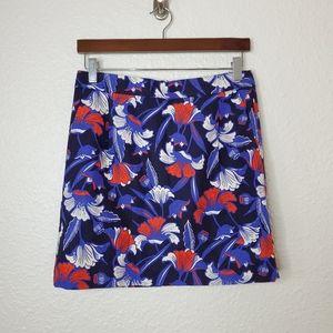 J.Crew Factory Basket Weave Floral Mini Skirt